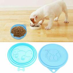 2 pet food can tin cover lid