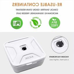 Food Storage Container Compatible with All Most of Vacuum Se