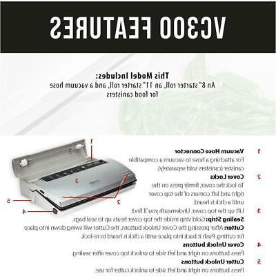 CASO Food Sealer Electric Preserving Black Stainless