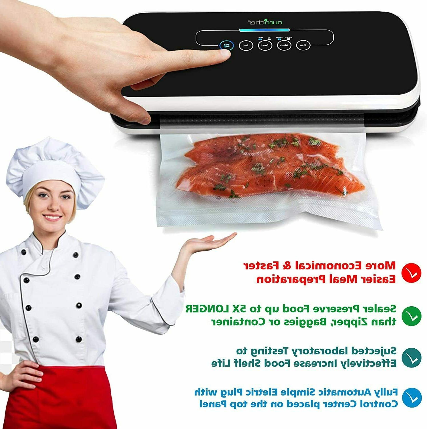 NutriChef Vacuum Sealer Automatic Air System Food