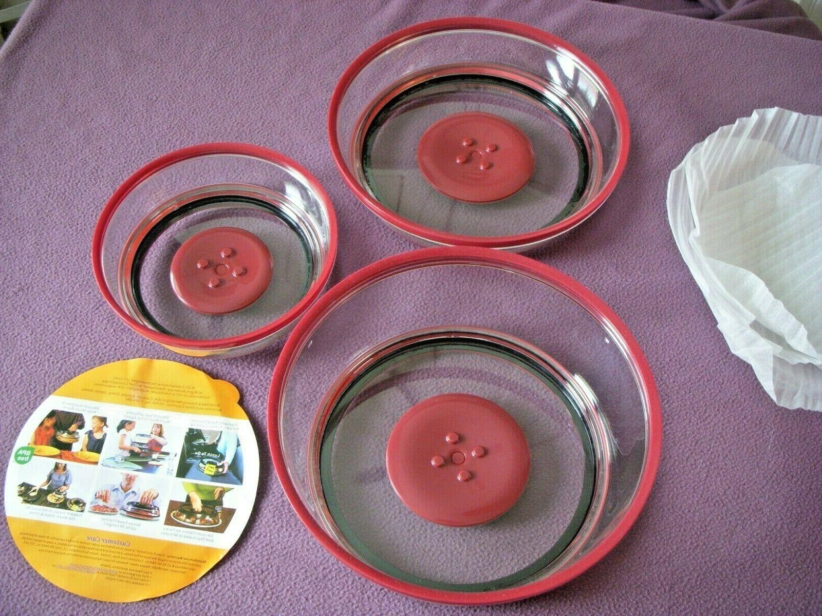 Set of 3 Dome Silicone Red Proof