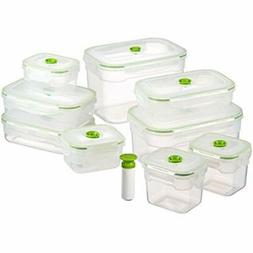 Lasting Freshness Vacuum Seal Food Storage Containers - Deep