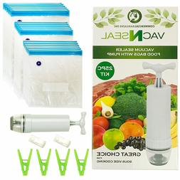 Sous Vide Bags Kit for Sous Vide Cookers - 18 Reusable Food