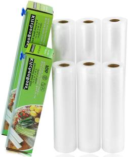 "KitchenBoss Vacuum Sealer Rolls Bag, 6 Pack 8""x16.5' and 11"""